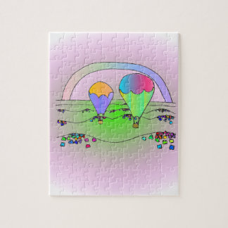 Rainbow Hot Air Balloons Jigsaw Puzzle