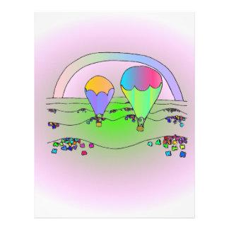 Rainbow Hot Air Balloons Letterhead