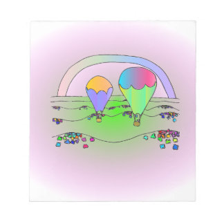 Rainbow Hot Air Balloons Notepad