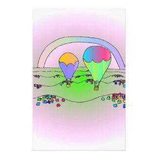 Rainbow Hot Air Balloons Stationery