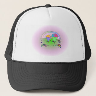 Rainbow Hot Air Balloons Trucker Hat