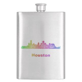 Rainbow Houston skyline Hip Flask
