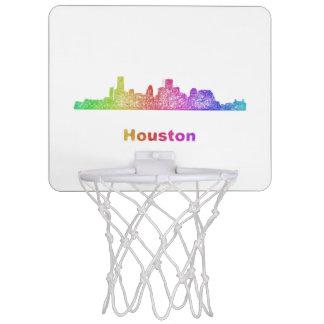 Rainbow Houston skyline Mini Basketball Backboard