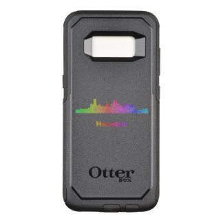 Rainbow Houston skyline OtterBox Commuter Samsung Galaxy S8 Case