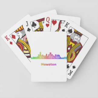 Rainbow Houston skyline Playing Cards