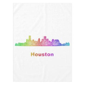 Rainbow Houston skyline Tablecloth