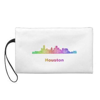 Rainbow Houston skyline Wristlets