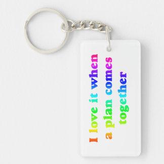 Rainbow I Love It Single-Sided Rectangular Acrylic Keychain