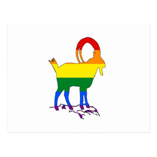 Rainbow Ibex Postcard