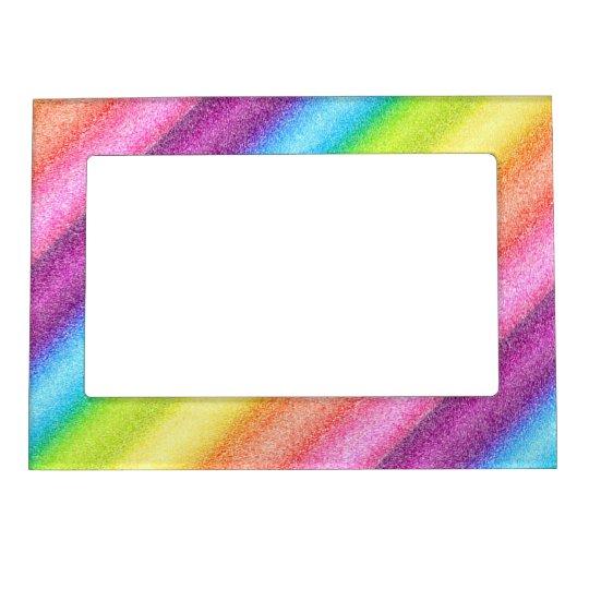 """Rainbow Ices"" Photo Frame Magnets"