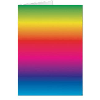 Rainbow Image Template Card