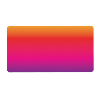 Rainbow Image Template Shipping Label