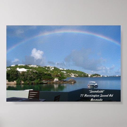 Rainbow in Bermuda Poster