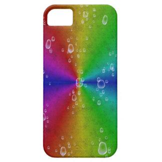 rainbow in elephant skin leatheroptik & raindrops iPhone 5 covers