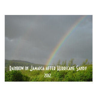 Rainbow in Jamaica after Hurricane Sandy 2012 Postcard