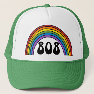 Rainbow in the 808 trucker hat