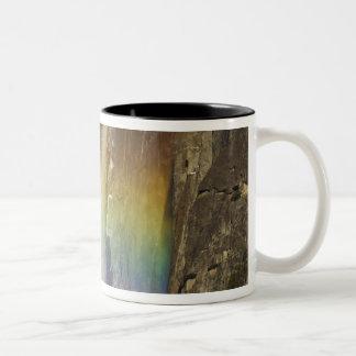 Rainbow in Upper Yosemite Falls in Yosemite Two-Tone Coffee Mug
