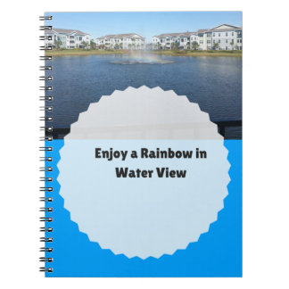 Rainbow in Water Photo Notebook 80 Pages