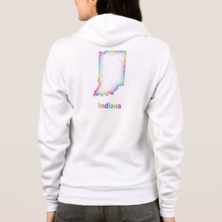Rainbow Indiana map Hoodie