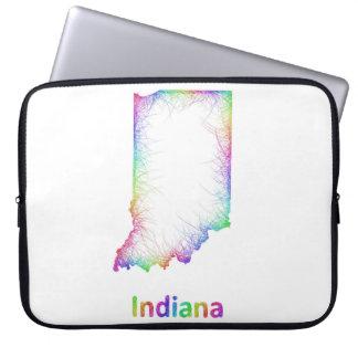 Rainbow Indiana map Laptop Computer Sleeve