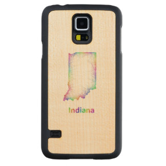 Rainbow Indiana map Maple Galaxy S5 Case