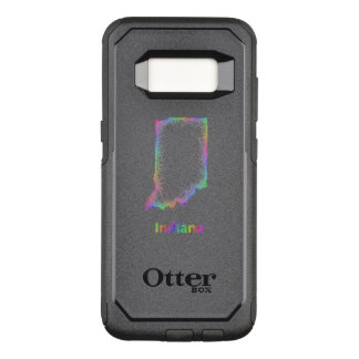 Rainbow Indiana map OtterBox Commuter Samsung Galaxy S8 Case