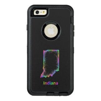 Rainbow Indiana map OtterBox iPhone 6/6s Plus Case