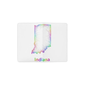Rainbow Indiana map Pocket Moleskine Notebook