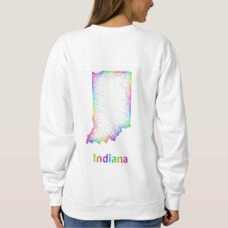 Rainbow Indiana map Sweatshirt