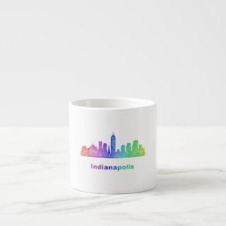 Rainbow Indianapolis skyline