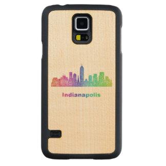 Rainbow Indianapolis skyline Maple Galaxy S5 Case
