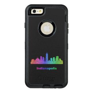 Rainbow Indianapolis skyline OtterBox iPhone 6/6s Plus Case