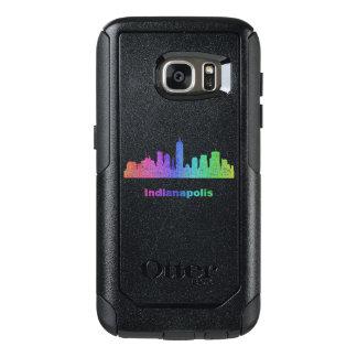 Rainbow Indianapolis skyline OtterBox Samsung Galaxy S7 Case