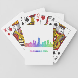 Rainbow Indianapolis skyline Playing Cards