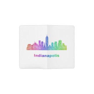 Rainbow Indianapolis skyline Pocket Moleskine Notebook