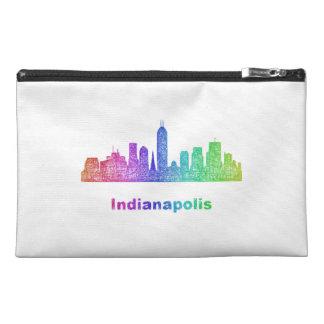 Rainbow Indianapolis skyline Travel Accessory Bag