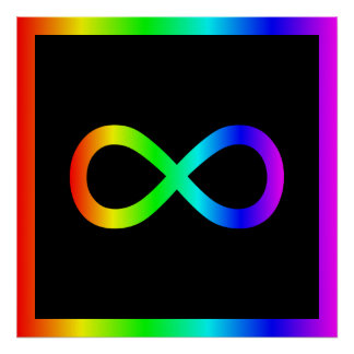 Rainbow Infinity Symbol Poster