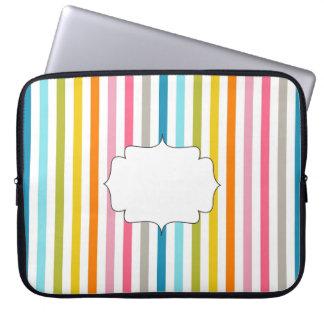 Rainbow Initial Laptop Sleeve 15 Inch