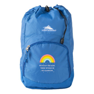 Rainbow Inspirational and Motivational Quote Backpack