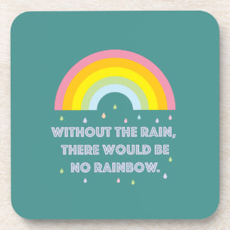 Rainbow Inspirational and Motivational Quote Coaster