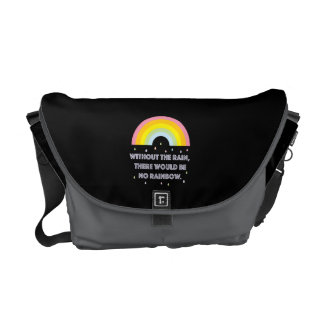 Rainbow Inspirational and Motivational Quote Commuter Bag