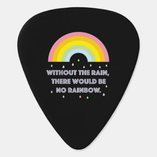 Rainbow Inspirational and Motivational Quote Guitar Pick