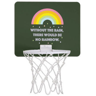 Rainbow Inspirational and Motivational Quote Mini Basketball Hoop
