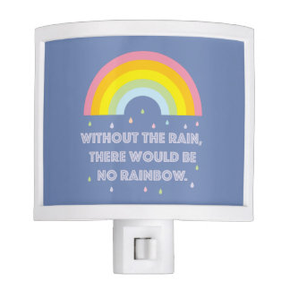 Rainbow Inspirational and Motivational Quote Nite Light