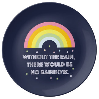 Rainbow Inspirational and Motivational Quote Plate