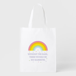 Rainbow Inspirational and Motivational Quote Reusable Grocery Bag