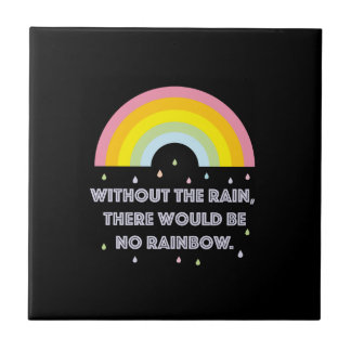 Rainbow Inspirational and Motivational Quote Tile