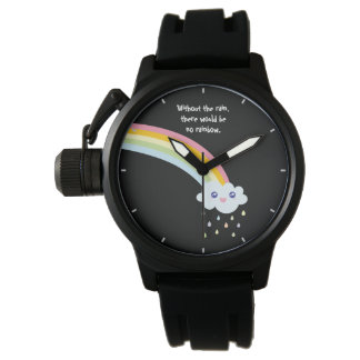 Rainbow Inspirational and Motivational Quote Watch