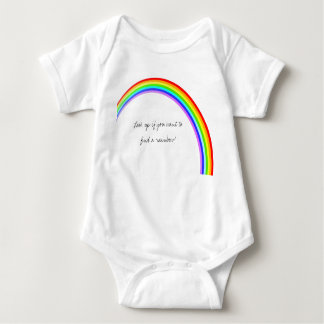 Rainbow inspiring quote, colorful and fun baby bodysuit