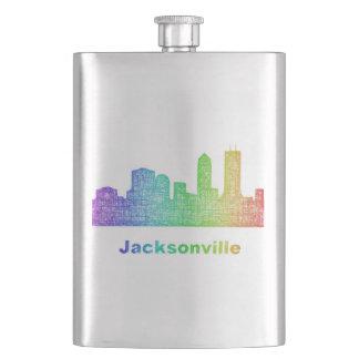 Rainbow Jacksonville skyline Flasks